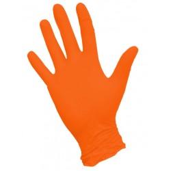 Перчатки нитриловые М 100шт. (оранжевые )