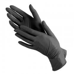 Перчатки нитриловые М 100шт.(черные)